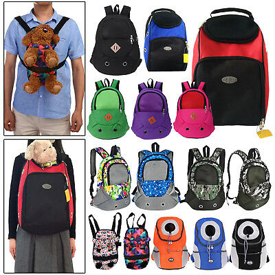 Cute Pet Dogs Backpack Carrier Shoulder Back Front Pack Puppy Pouch Travel Bags