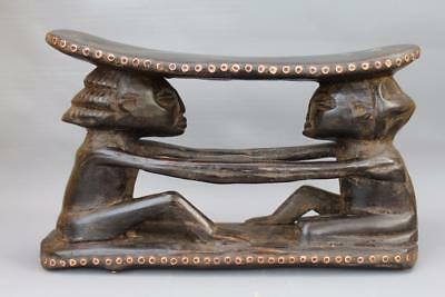 African Tribal Luba Headrest