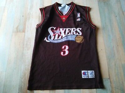 Maillot BASKET BALL CHAMPION USA SIXERS NBA N°3 IVERSON TAILLE/XS/D2  TBE