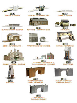 Superquick Series A Model Building Card Kits OO Gauge Railways