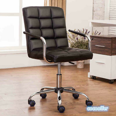 Executive Home Office Swivel Chair High Back PU Leather Computer Desk Seat New