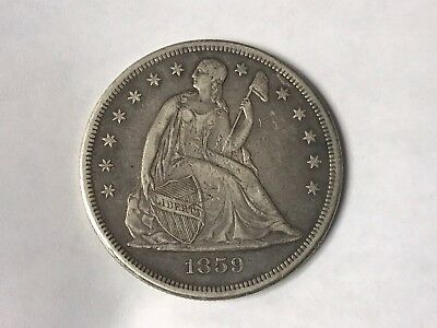 1859-O Scarce New Orleans Liberty Seated Silver Dollar Extra Fine+ Condition