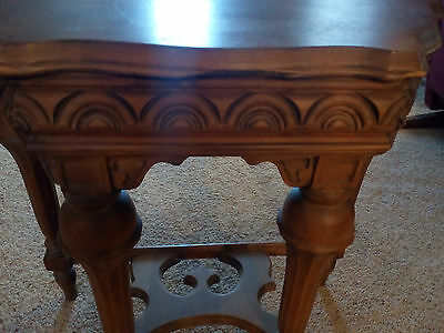antique Half Moon Accent Table..Victorian