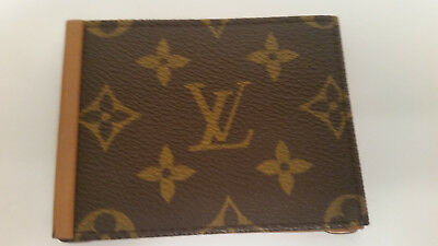 Louis Vuitton Men's Leather Money Clip Brown Monogram Canvas Made for SAKS