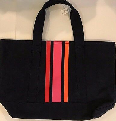 """Gap large tote, Navy, Striped, cotton, canvas,20"""" x 13"""""""