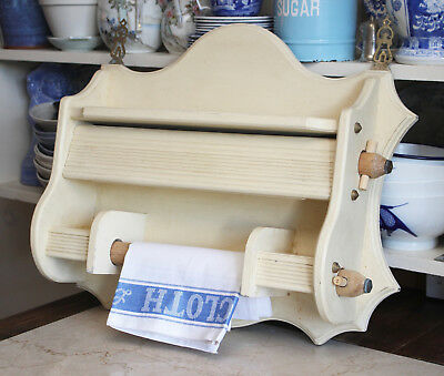 A Beautifully Made Painted Oak Farmhouse Kitchen Tidy/Dispenser, Brass Fixtures