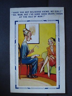 Used Comic Post Card Bamforth Comic Series No. 3740