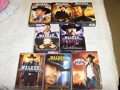 WALKER TEXAS RANGER Chuck Connors The Complete Seasons 1-8 DVD Lot GREAT COND