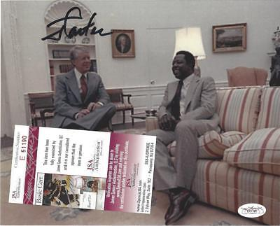 (Hank Aaron) w JSA/PSA President Jimmy Carter hand signed 8X10 photo Autographed