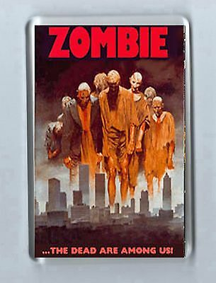 Retro Film Magnet: ZOMBIE Horror 'the dead are among us'