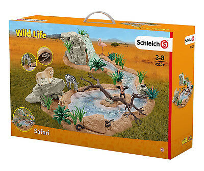 Schleich Great Adventure Waterhole Animal Playset for Kids Brand New