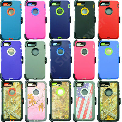 For Apple iPhone 7 Plus Defender Case Cover(Belt Clip Holster Fits Otterbox)