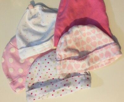 Baby Hats Lot Of 5 Barely Used Size Newborn To 3 Months See Images