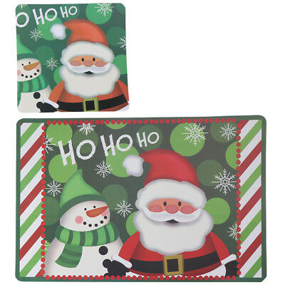 12pcs Waterproof Christmas Table Placemat Heat-Resistant Pad Table Kitchen Mat