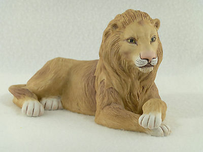 Boehm Porcelain LION #402-22 Peace will reign in the Kingdom - Feather Logo