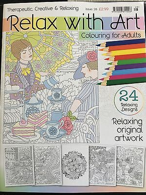 Relax with art colouring book - colouring for adults