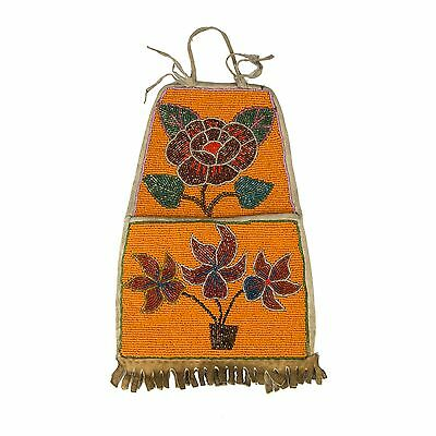 Coeur d'Alene Tribe Beaded Wall Pocket Floral