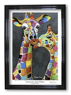 Steven Brown Art Framed Collectors Edition A1 Print McZoo Vibrant Colourful