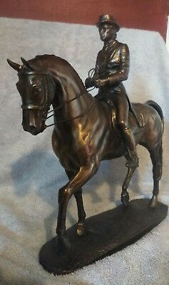 Au Passage Dressage Horse Sculpture by David Geenty Cold Cast Bronze