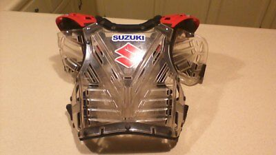 Suzuki MICROSHOCK CHEST PROTECTOR GUARD KIDS YOUTH MX MOTORCYCLE DIRT BIKE
