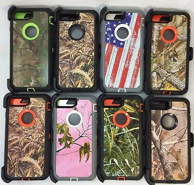 huge discount 59272 75c9b FOR APPLE IPHONE 8 Plus Camo Cover Case(Belt Clip Fits Otterbox Defender  Series)