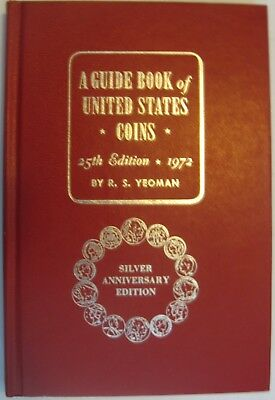 """1972 """"REDBOOK""""  25th EDITION  BY R. S. YEOMAN SIGNED COPY"""