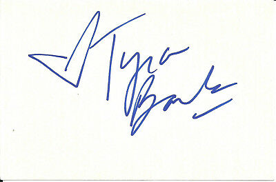Tyra Banks In-Person Signed Card
