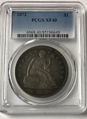 1872-P Liberty Seated Dollar PCGS XF40 #85196649 - Slabbed Nice Coin