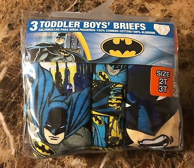 Boys Toddler Batman Briefs Size 2T/3T NWOT