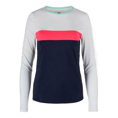 FILA - Women`s Heritage Long Sleeve Tennis Top Navy and White - (TW173WT3-412F17