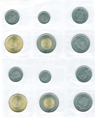 CANADA 2017 UNCIRCULATED 6 COIN MINT (2) SETS with SCARCE CLASSIC DESIGN COINS