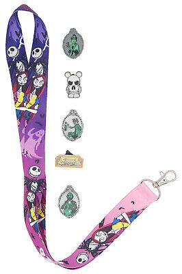 Haunted Mansion Themed Lanyard Starter Set w/ 5 Disney Trading Pins ~ NEW