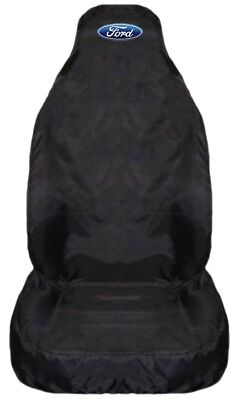 For Ford Transit Custom 2013+ HD Black Waterproof Car Seat Cover - 1 x Front