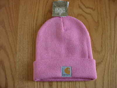 Nwt Girls Youth Cb89050 Carhartt Hat Beanie Cap (Med Pink)