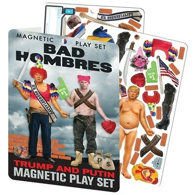 TRUMP & PUTIN magnetic wardrobe BAD HOMBRES DRESS UP set fridge magnets