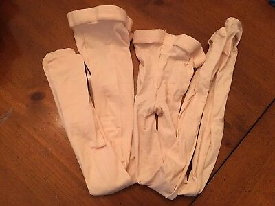 2 Pair Girl's Pink BLOCH Convertible Adaptatoe Tights-Size L - 1 NEW 1 PREOWNED