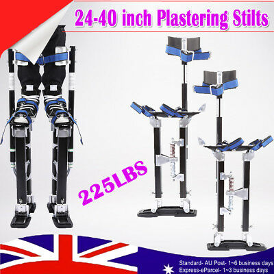 Plastering Plaster 24-40 inch Large Size Drywall Tool Stilts Black Aluminum New