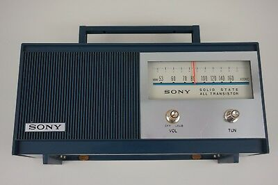 SONY  TR-628 Solid State 6 Transistor AM Radio Blue Vintage Retro Japan