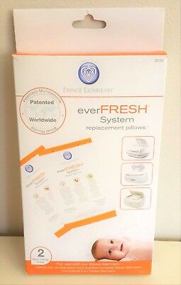 NEW Prince Lionheart 0239 EVERFRESH SYSTEM Pack of 2 Replacement Pillows SEALED