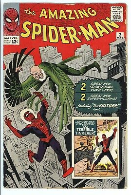 Amazing Spider-Man #2 Vol 1 Very Nice Higher Grade 1st Appearance of the Vulture