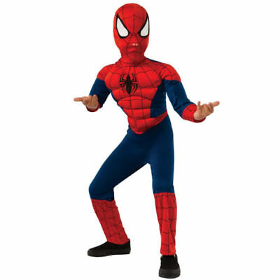 Ultimate Spider-Man MUSCLE Boys Costume Marvel Comics Size 8-10 Rubies 620458 BX