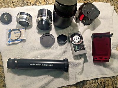 Lot- 3X & 2X Vivitar Tele-Converter+Vivitar Light/Exposure Meter+Spiratone Items
