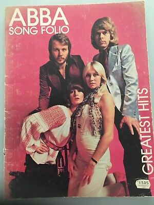 ABBA Song Folio. Greates Hits Music Book