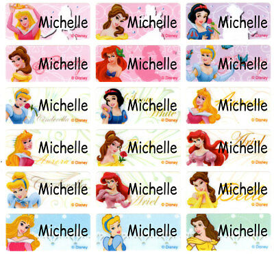 Princess Belle Cinderella Snow white Personalized Name Stickers Labels Tag party