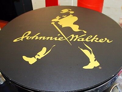 JOHNNIE WALKER  BAR TABLE 77cm DIAMETER 105cm HEIGHT