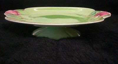 Grimwades Royal Winton  Vintage Tiger Lily Green Footed Plate/bowl