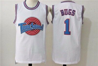 Bugs Bunny #1  Space Jam Tune Squad Basketball Jersey White stitched