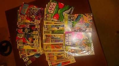 Star Wars Comic Book LOT of 31 Marvel COMICS 60 cents cover price's