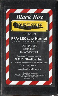 Black Box  F/A-18C (early) Hornet Cockpit Set 1/32 scale