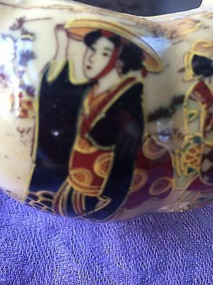 Vintage (antique?)  marked Chinese pumpkin-shaped jar with lid
